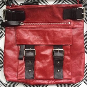 Red Danier Leather Bag